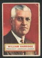 1956 Topps #1 Will Harridge GVG PRES 84481