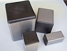 """Plastic Insert Caps & Plugs the end of 1-1/8"""" Square Tube 14-20 gage wall/ 4 PAK"""