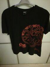 """Game of thrones T-shirt Large 42-44"""" Black Cotton Targaryen"""