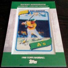 RICKEY HENDERSON 1980 Topps 2013 Manufactured Rookie Card RC Patch Oakland A's