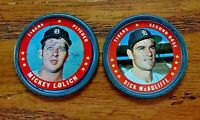 1971 Topps COINS #10 Dick Mcauliffe and #106 Mickey Lolich - Tigers