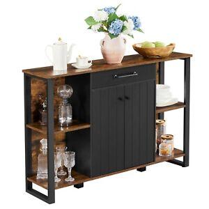 Sideboard Küchenschrank mit Schublade Beistellschrank Schrank mitTüren LSC103B01