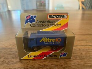 MATCHBOX AUSTRALIAN COLLECTORS MODEL MB72 DELIVERY TRUCK MITRE 10 LIMITED EDN.