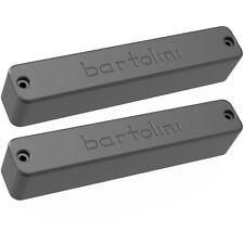 NEW Bartolini X55CBJD B1/T1 Classic Bass 5-string Soapbar Pickup SET - BLACK
