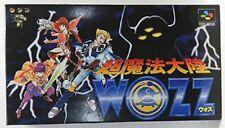 Cho Maho Tairiku WOZZ Super Famicom Nintendo Japan Boxed Game sf