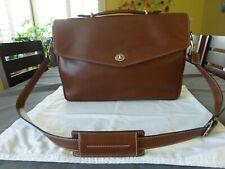Vintage RARE Coach British Tan 1990's All Leather Briefcase Work Bag Shoulder