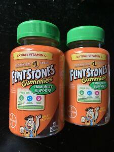 Lot Of 2 Flintstones Vitamin Children's Gummies (60ct) Immune Support Exp: 12/21