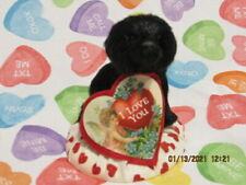 Byers Choice Valentine Black Puppy With I Love You Heart💓💗