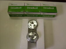 Weslock 371-26D Single cyl deadbolts Brushed Chrome finish -lot of 3 keyed alike