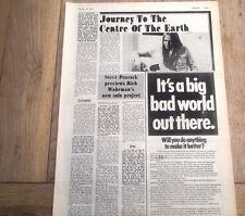 RICK WAKEMAN (YES) 'Journey' 1974 UK ARTICLE / clipping