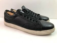 G-STAR RAW Men's US 12 ORIGINALS Black Leather Sneaker Shoes