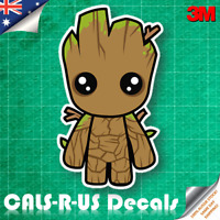 Cute Baby Groot Guardians Galaxy Vinyl Decal JDM Sticker Car. 3M Film. 100mm