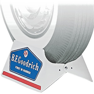 New Metal Car Tire Stand with Vintage BF Goodrich Logo FREE Shipping