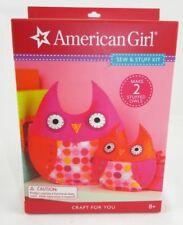 American Girl Sew & Stuff Kit Craft For You Make 2 Stuffed Owls Brand New in Box