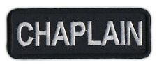 Motorcycle Biker Jacket/Vest Patch - Chaplain - Member Rank, Position, Status