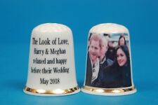The Look of Love Harry & Meghan Relaxed And Happy China Thimble B/105