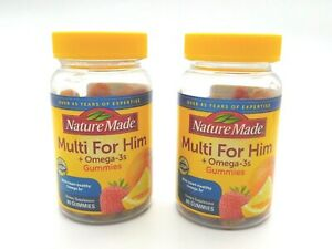 [LOT OF 2] Nature Made- Men's Multivitamin + Omega-3 Gummies, 160 Count