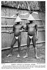 1913 Kobeua Indians In Dancing Dress Hat Pumpkin Rattle Amazon
