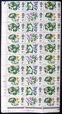 Gb 1967 Flowers Phosphor 4d Complete Se-tenant Sheet of 120 Nb4333
