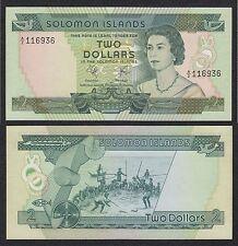 Islas Salomón - Solomon Islands  2 Dollars  ND 1977   Pick 5  SC = UNC