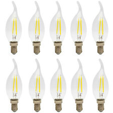 10X E14 2W LED Glühfaden Kerze Lampe, 6000K Kaltweiß E14 Fassung,Nicht Dimmbar