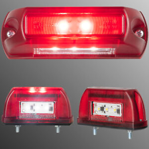 1x LED Kennzeichenleuchte Anhänger  Kennzeichenbeleuchtung 5 LED LKW PKW 12V 24V
