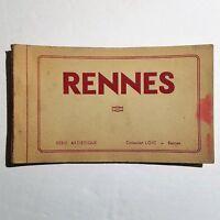 RENNES France French - Souvenir Detachables - 10 UNPOSTED Postcards Vintage