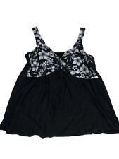 Delta Berke Swimsuit Sz 24W Floral Swimdress One Piece Black White Plus Bathing
