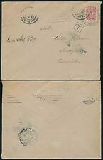 FINLAND 1916 WW1 POSTAGE DUE T BOXED RUSSIAN MACHINE TRANSIT CENSOR? to UOTSOLA