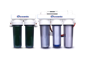 Reverse Osmosis RO/DI Deionization REEF AQUARIUM WATER FILTER 6 STAGE 75 GPD USA