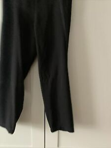 Vince Black Viscose Poly Mix Trousers M Elasticated Waist & Satin side strip