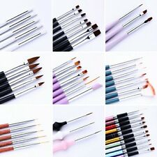 UV Gel Acrylic Painting Liner Brushes Drawing Nail Art Dotting Pen Cleaning Tool