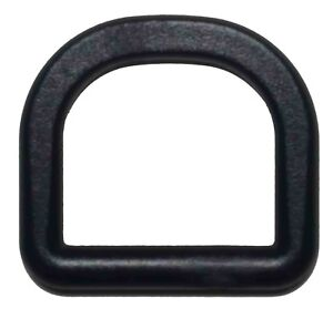 """25 pcs 3/4"""" DEE Ring D Ring D-Ring DRing - Black Plastic - Shipped from USA"""