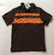 NWT Janie & Jack 5 5T Natural Safari Brown Embroidered Lion Stripe Polo Shirt