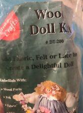 "New Lara'S Crafts Wood Doll Kit 17"" Add Fabric Lace Makes Girl Doll or Santa Usa"