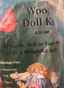 "NEW LARA'S CRAFTS WOOD DOLL KIT 17"" Add Fabric Lace Makes Santa Or Girl Doll USA"
