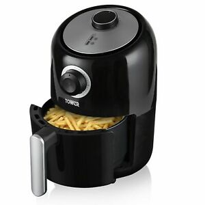 Tower T17026 Compact Air Fryer 1000W 1.6L Black 3 Year Guarantee