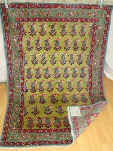 100%EchteTeppich Carpet Rug Handgeknüpfte+Perser+TeppichTop/Ware+