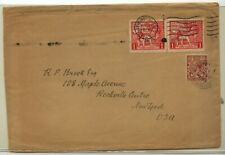 Great Britain 185 pair on cover 1924 to Us Ms0928