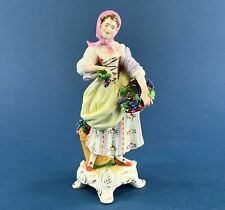 Sitzendorf Porcelain Kammer Rudolph Figurine of a Lady with a Basket of Grapes