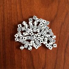 100pcs White Super Mini Dice Tiny Miniature Game Supply Numbers Dice