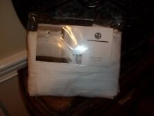 """New Hotel Collection Plume White Queen Bedskirt 16"""" Skirt Drop"""