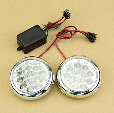 2x 15 12V  LED Round Daytime Running Driving Lights DRL Front Fog Tail Work Lamp