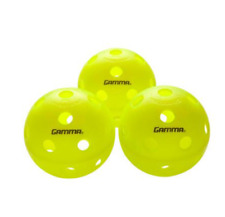 THREE (3) GAMMA PHOTON INDOOR PICKLEBALLS (NEON YELLOW) USAPA APPROVED