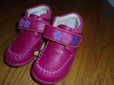 NWT toddler girl Clarks pink leather shoes. Ankle support.  6.5F. RRP £32  1/1