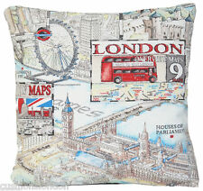 London Cushion Cover Funky Throw Pillow Case Eye Bridge Union Jack The Capital