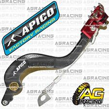 Apico Black Red Rear Brake Pedal Lever For Honda CR 250 2002-2007 MotoX Enduro