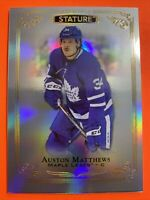 2019-20 Upper Deck Stature #1 Auston Matthews Toronto Maple Leafs Rainbow Base