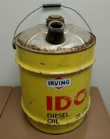 Vintage Irving Desiel Oil Can IDO 20 Litres Saint John Quebec