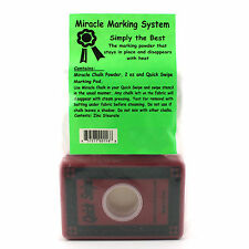Miracle Marking Chalk Powder 2oz bag And  Quick Swipe Marking Pad for Quilt Mark